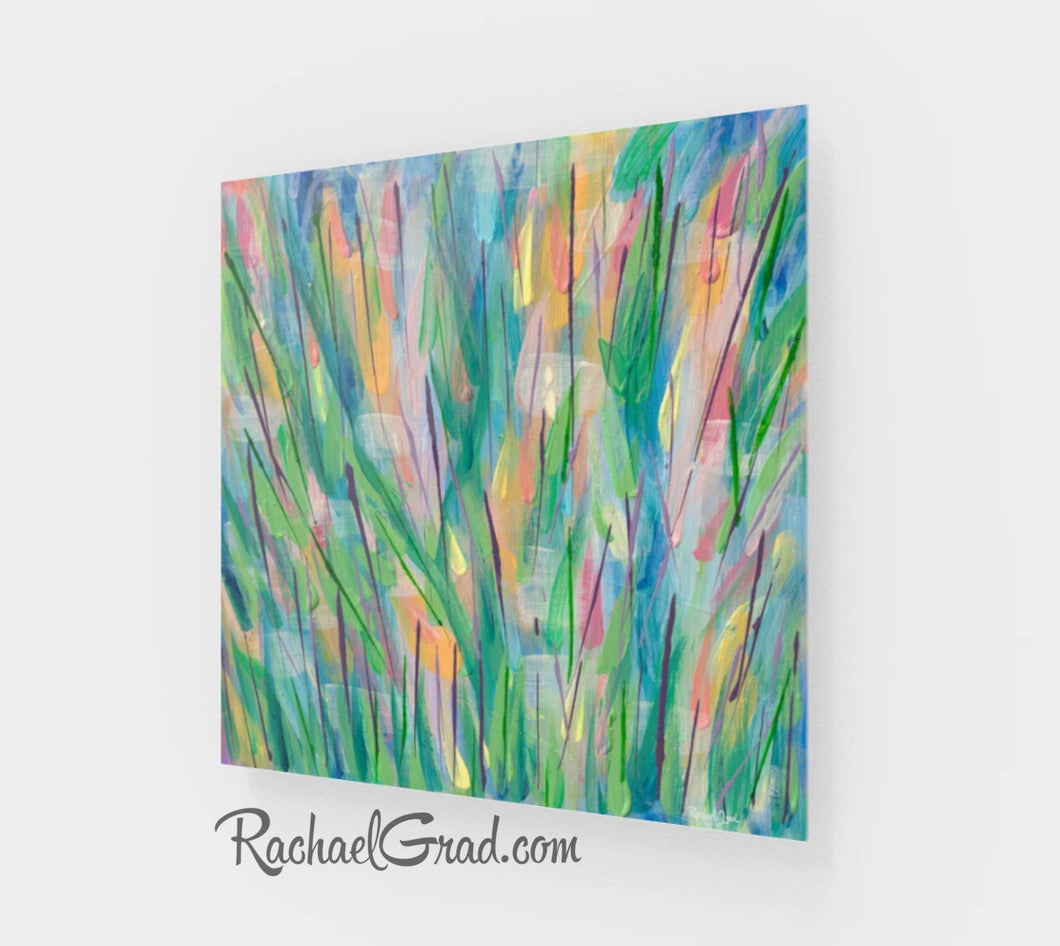 Green Grass Abstract 1 Art Print-Acrylic Print-Canadian Artist Rachael Grad