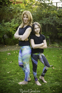 Green Leggings for Girls by Toronto Artist Rachael Grad