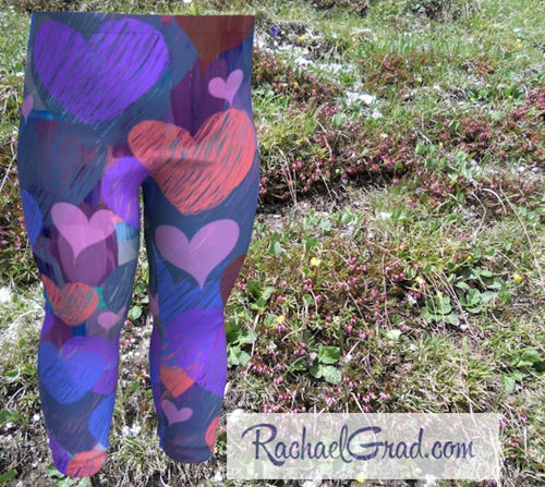 Baby Leggings with Hearts by Artist Rachael Grad, Valentines Gifts for Babies
