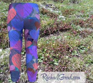 Baby Tights with Hearts by Artist Rachael Grad, Valentines Gifts for Babies