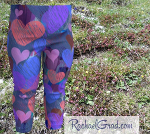 Hearts Baby Leggings Matching Set with Mom by Artist Rachael Grad