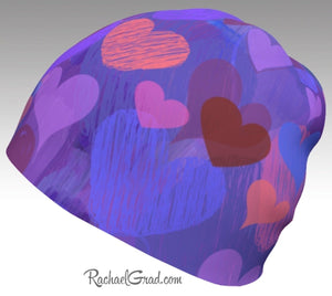 Matching Mom and Me Valentines Hearts Beanie Hat Gift for Valentine's Day by Rachael Grad