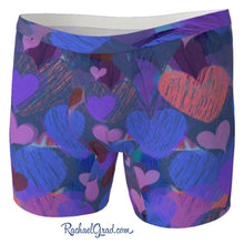 Load image into Gallery viewer, Hearts Boxer Briefs Underwear for Men by Artist Rachael Grad front