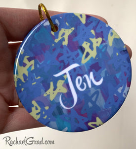 stars ornament for Chrismukkah Christmas and Chanukah by Artist Rachael Grad