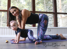 Load image into Gallery viewer, Jess and Baby Rachel in Matching Alex Leggings by Artist Rachael Grad kneeling