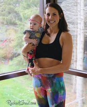 Load image into Gallery viewer, Colorful Art Leggings by Artist Rachael Grad on Mom and Baby
