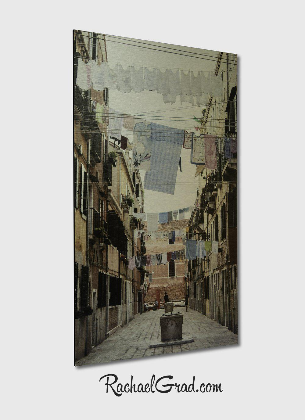 Laundry Lines Arsenale Venice Italy Art Print on Metal by Artist Rachael Grad Artwork