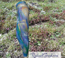 Load image into Gallery viewer, Maia Women's leggings in blue by Toronto artist Rachael Grad side view