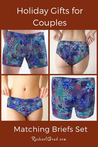 Matching Underwear Set with Snowflake Art by Artist Rachael Grad
