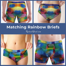 Load image into Gallery viewer, Matching Underwear Set with Rainbow Artwork by Artist Rachael Grad.jpg