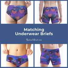 Load image into Gallery viewer, Matching Underwear Briefs with Hearts for Valentines Gift by Artist Rachael Grad