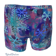 Load image into Gallery viewer, Men's Boxer Briefs with Snowflake Art by Toronto Artist Rachael Grad back view