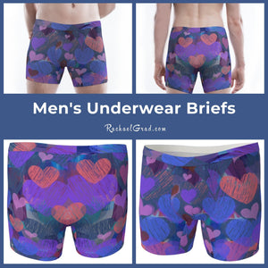 Matching Underwear Set - Hearts for Valentines-Clothing-Canadian Artist Rachael Grad