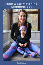 Load image into Gallery viewer, Mom & Me Legging Set with Hearts by Toronto Artist Rachael Grad
