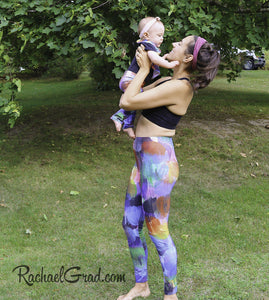 Mommy and Me Leggings by Toronto Artist Rachael Grad with Jess and Baby Rachel