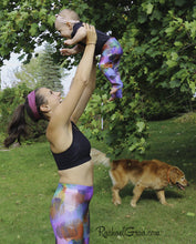 Load image into Gallery viewer, Mommy and Me Leggings by Toronto Artist Rachael Grad with Jess and Baby Rachel and Dog