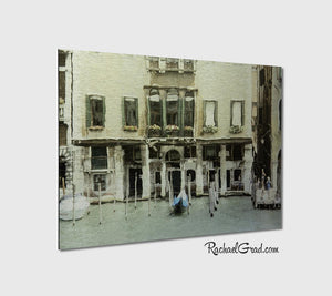 On the Grand Canal Venice Italy Metal Art Print Rachael Grad Artwork