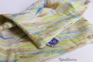 PillowTexture Natural Linen Cotton Fabric by Artist Rachael Grad