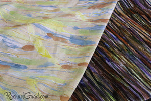 PillowTexture Natural Linen Cotton and Velvet Like Velveteen Fabric by Artist Rachael Grad