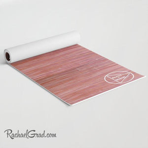 Pink and Purple Yoga Mat for Pilates on Demand rolled up