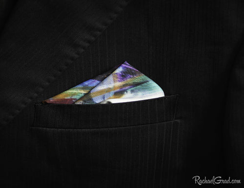 Pocket Squares for Men-Clothing-Canadian Artist Rachael Grad