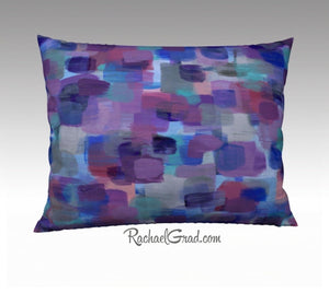 Pillowcase - Purple Blue Brushstrokes, 26 x 20-Pillows-Canadian Artist Rachael Grad