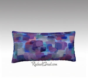 Purple Room Decor Accent, Purple Accent Pillow Art, Violet Throw Pillow Purple Pillowcase by Artist Rachael Grad