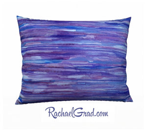 Pillowcase Purple Lines, 26 x 20 pillow by Toronto Artist Rachael Grad front