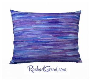 Pillowcase Purple Lines, 26 x 20 pillow by Toronto Artist Rachael Grad back