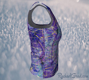 Fitted Tank Top - Purple, Regular-Fitted Tank Top (Regular)-Canadian Artist Rachael Grad