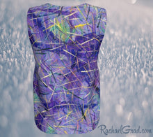 Load image into Gallery viewer, Tank Top for Women in Purple Long Style by Toronto Artist Rachael Grad back