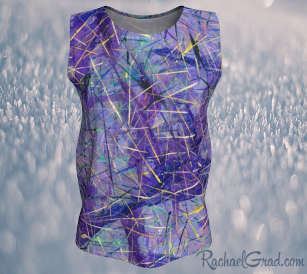 Tank Top for Women in Purple Long Style by Toronto Artist Rachael Grad front