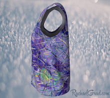 Load image into Gallery viewer, Tank Top for Women in Purple Long Style by Toronto Artist Rachael Grad side