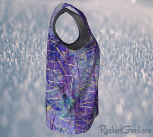 Tank Top for Women in Purple Long Length Style by Toronto Artist Rachael Grad side