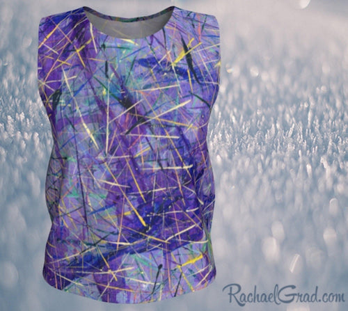 Loose Tank Top - Purple, Regular-Loose Tank Top (Regular)-Canadian Artist Rachael Grad