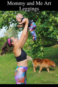 Sami Art Leggings Mommy and Me Matching by Artist Rachael Grad