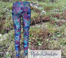 Load image into Gallery viewer, Mom and Me Matching Leggings Snowflakes by Artist Rachael Grad back