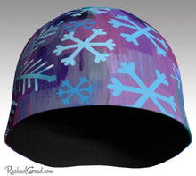 Load image into Gallery viewer, Winter Hat Snowflakes Art Beanie Toque by Toronto Artist Rachael Grad