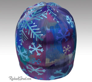 Winter Hat Colorful Snowflakes Art Beanie Toque by Toronto Artist Rachael Grad