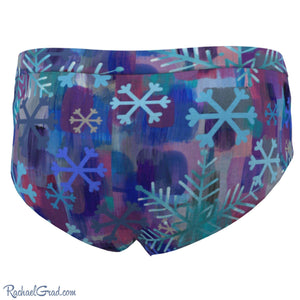 Snowflakes Women's Briefs by Toronto Artist Rachael Grad back view