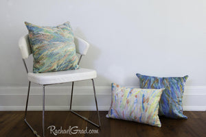 Spring Pillow Collection by Artist Rachael Grad in Pastel Colors