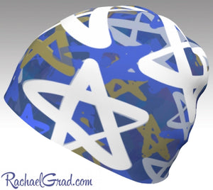 Kids Beanie Hat Star of David Hats Beanie, Chanukah Gifts Jewish Holiday Gifts by Artist Rachael Grad