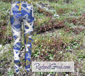 Stars Kids Leggings Hanukkah Gifts for Kids Leggings Tights by Artist Rachael Grad