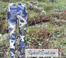 Load image into Gallery viewer, Stars Kids Leggings Hanukkah Gifts for Kids Leggings Tights by Artist Rachael Grad front