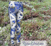 Load image into Gallery viewer, Stars Kids Leggings Hanukkah Gifts for Kids Leggings Tights by Artist Rachael Grad Teens