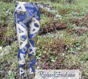 Stars Kids Leggings Hanukkah Gifts for Kids Leggings Tights by Artist Rachael Grad Teens