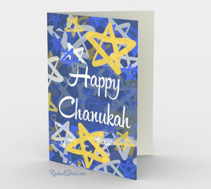 Stationery Card Set - Happy Chanukah by Canadian Artist Rachael Grad
