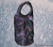 Load image into Gallery viewer, Tank Top Regular Fit by Toronto Artist Rachael Grad in Black Purple side view