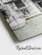 Load image into Gallery viewer, Texture Detail of Limited Edition Art Prints on Metal Italy Series by Artist Rachael Grad