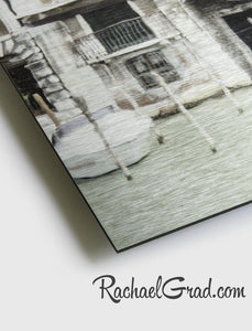 Texture Detail of Limited Edition Art Prints on Metal Italy Series by Artist Rachael Grad
